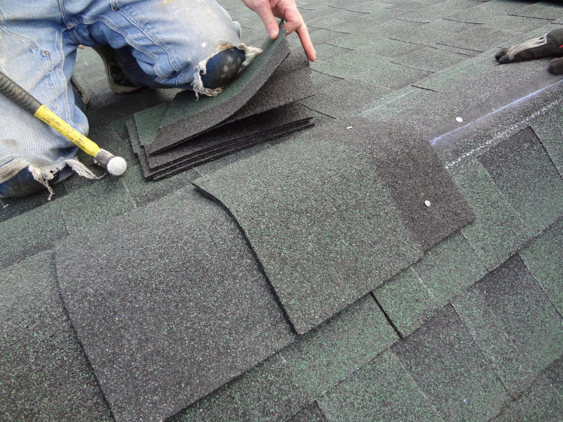 Installing the ridge cap shingles