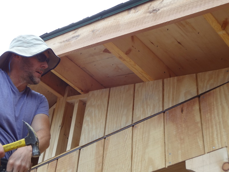 Installing the gable siding