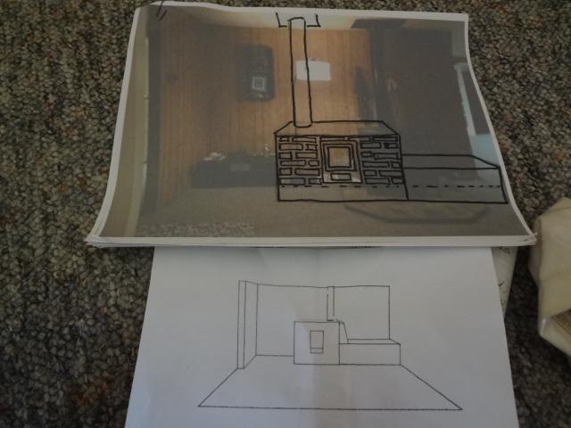 Cabin stove sketch