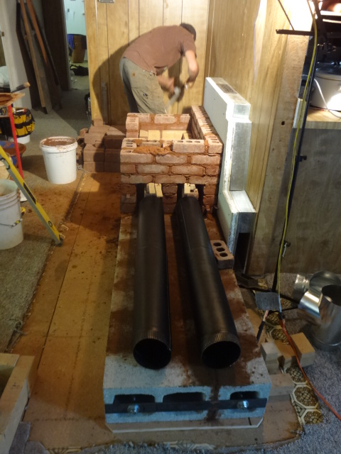 Pipes that will be inside the cob bench