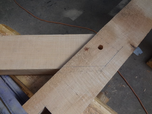 Tenon in mortise.