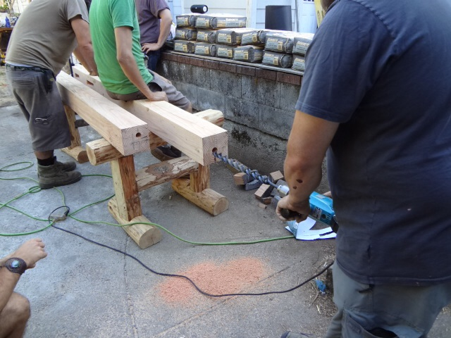 """Drilling holes in posts  (1 3/4""""?)"""