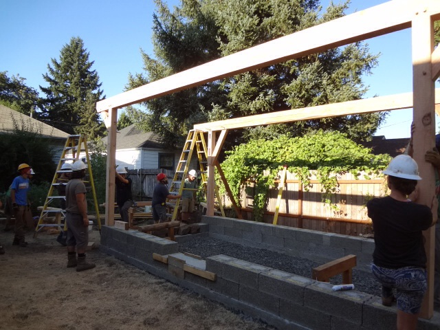 Front wall raised
