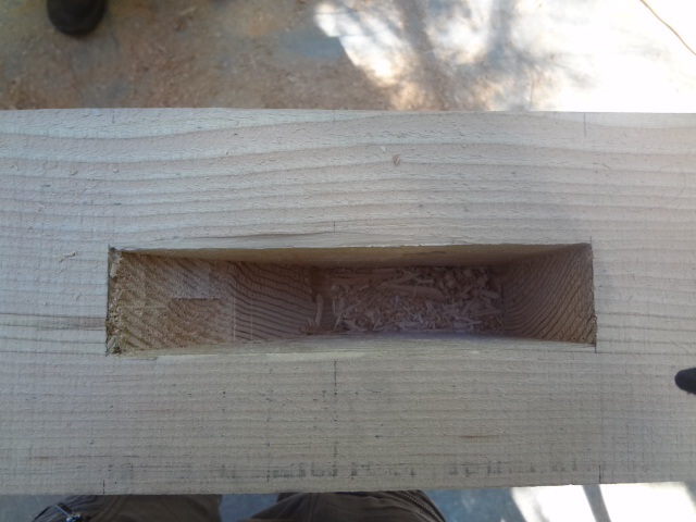 Mortise inside