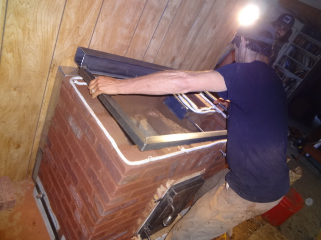 Installing the stovetop frame